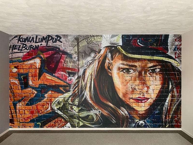 muur grafiti sticker