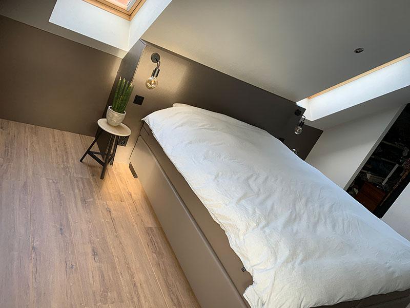 wrappen hoofdbord bed